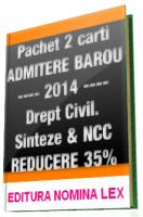 Pachet 2 carti DREPT CIVIL pentru EXAMENUL de ADMITERE in BAROU, 2014  | REDUCERE 35%