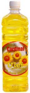Ulei 100% natural presat la rece din Floarea Soarelui - 1 L | Marca Cardinal