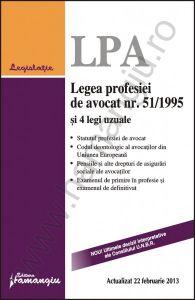Legea profesiei de avocat si 4 legi uzuale [Data aparitiei: 5 Martie 2013]