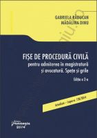 Fise de procedura civila pentru admiterea in magistratura si avocatura. Spete si grile (Gabriela Raducan, Madalina Dinu)