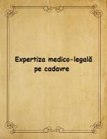 Expertiza medico-legala pe cadavre