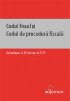 Codul fiscal si Codul de procedura fiscala. Actualizare: 15 februarie 2015
